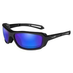 Okulary Wiley X WAVE Polarized Blue Mirror Gloss Black Frame